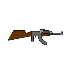 Machine gun childs drawing style arms on white vector