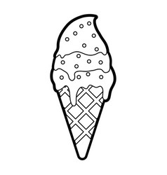 delicious ice cream with sprinkles icon image vector image