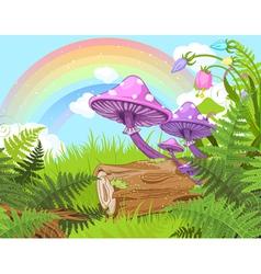 Fantasy landscape vector image