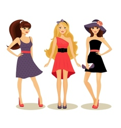 fashion spring girls vector image vector image