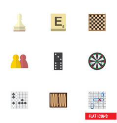 flat icon games set of sea fight chess table vector image