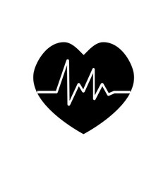 heart beat rate icon fitness and exercises vector image