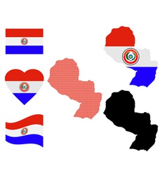 map of Paraguay vector image vector image