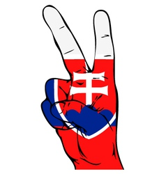 Peace Sign of the Slovak flag vector image vector image