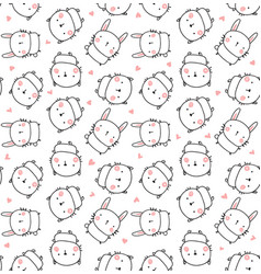 best friends pattern vector image vector image