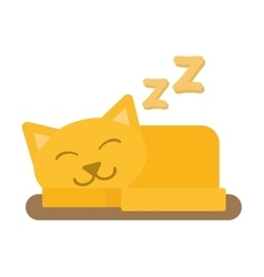 Cute cat sleeping isolated vector image