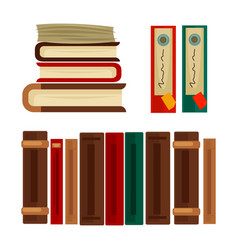 different books and covers vector image vector image