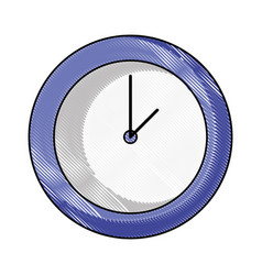grated circle wall clock time object vector image vector image