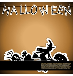 Halloween card with stickers vector image vector image