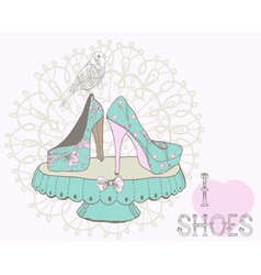 love shoes vector image