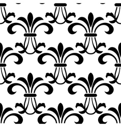 Seamless pattern with decorative floral elements vector image vector image