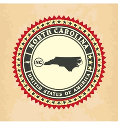 Vintage label-sticker cards of North Carolina vector image vector image