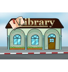 A library vector image vector image