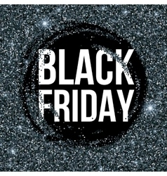 Black Friday sale lettering background Template vector image vector image