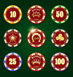 casino chip set vector image