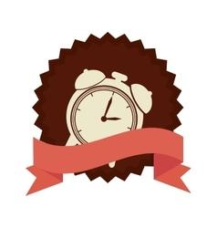 Clock alarm watch isolated icon vector