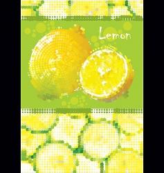 fresh lemon menu vector image