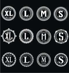 Vintage size label vector