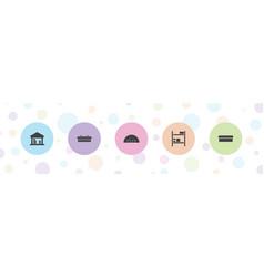 5 barn icons vector