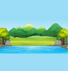 a beautiful flat landscape vector image