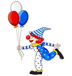 A coloured drawing of a clown vector image
