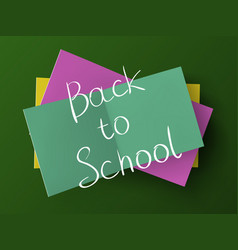 Back to school above a stack of stickers vector