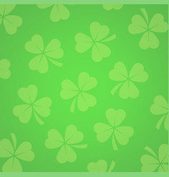 Background with clover leafs vector