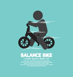 Balance Bike Black Symbol vector image