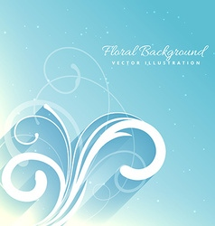 Beautiful floral background in blue color vector