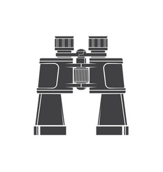 Binoculars silhouette isolated on white background vector