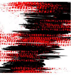 black tire track background vector image