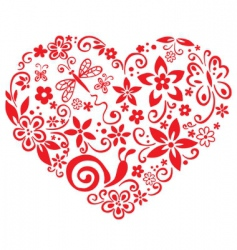 blooming heart vector image