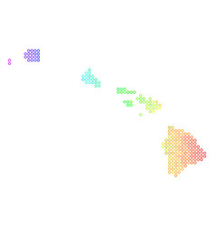 Bright cirle dot havaii islands map vector