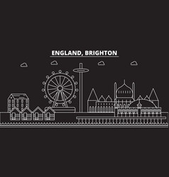 Brighton silhouette skyline great britain vector