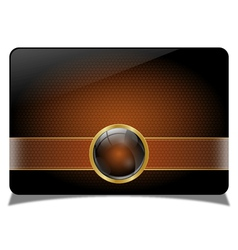Brown vip card vector image