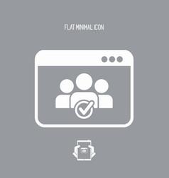 check computer contacts icon vector image
