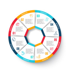 Circle infographic with 8 options vector