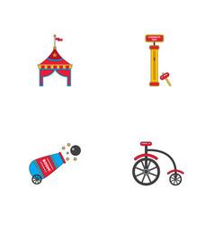 Circus stuff icons vector