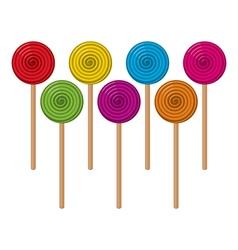 Colorful lollipop candies vector