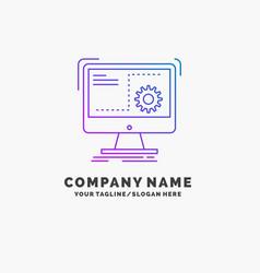 Command computer function process progress purple vector