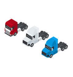 design of trailer container sets vector image