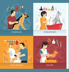 Dog care design concept vector