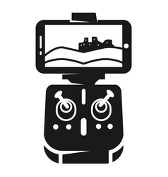 Drone control icon simple style vector
