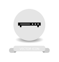 Dvd player icon vector