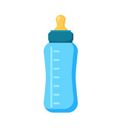 Feeding baby bottle icon flat of vector