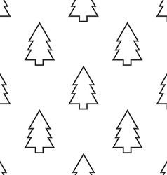 Fir-tree seamless pattern vector