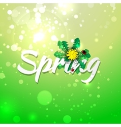 Green spring abstract background vector image