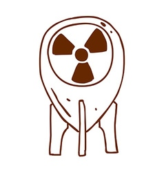 Hand Drawn Nuclear Energy Power Symbol vector image