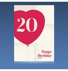 Happy birthday poster vector image