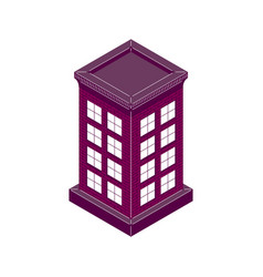 house brick sometric vector image